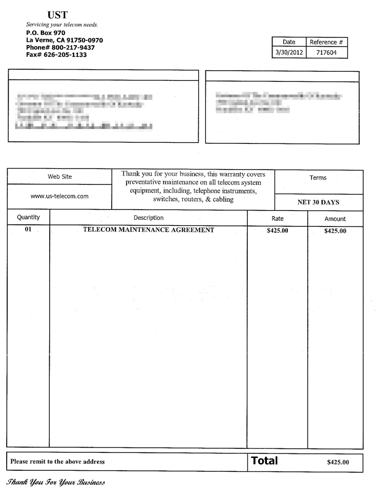Formal Invoice. Example Invoice Word Sample Resume Service Formal