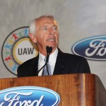 Gov. Steve Beshear speaks Wednesday at the Louisville Assembly Plant transformation celebration. (Photo by Ed Lane)