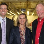 Michael Biagi, field representative for Sen. Mitch McConnell, left, poses for a photo with Jim Ramsey, president of the University of Louisville, and Mary Culler of Ford. (Photo by Ed Lane)