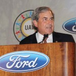 U.S. Rep. John Yarmuth of Louisville speaks Wednesday at Ford's celebration of the transformation of the Louisville Assembly Plant. (Photo by Ed Lane)