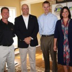 Builder Jimmy Nash, left, HBAL executive director Todd Johnson and builder James Monroe pose for photo with Lori Flannery, secretary of the state Finance and Administration Cabinet. Flannery spoke at a press conference by the HBAL, where the association announced it will have all of its home energy rated and will market their homes' HERS Index score.
