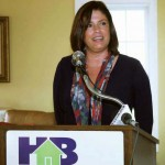 Lori Flannery, secretary of the state Finance and Administration Cabinet. Flannery spoke at a press conference by the HBAL, where the association announced it will have all of its home energy rated and will market their homes' HERS Index score.