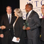 UPS representatives receive the Martha Layne Collins International Trade Award at Kentucky World Trade Day.