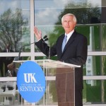 Kentucky Gov. Steve Beshear speaks Wednesday at a ceremony celebrating the opening of a new University of Kentucky energy research building.