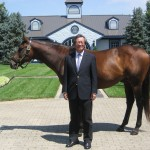 As part of his visit to Kentucky, Ambassador Y.J. Choi visited WinStar Farm, Woodford Reserve and Alltech. He is shown here with Invasor at WinStar Farm.