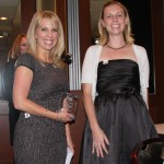 LYPA Professional Development Chair Marlena Stephens presents a 2012 Rising Stars award to Carrie Patterson.