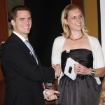 LYPA Professional Development Chair Marlena Stephens presents a 2012 Rising Stars award to Fielding Rogers.