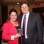 Maggie Mick shares her Rising Stars award with her husband, Nathan.