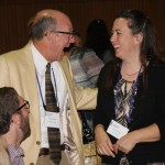 Gordon Denmark of Henkel Denmark Inc. shares a laugh with Linda Bronson of J&H Lanmark, one of the event's honorees.