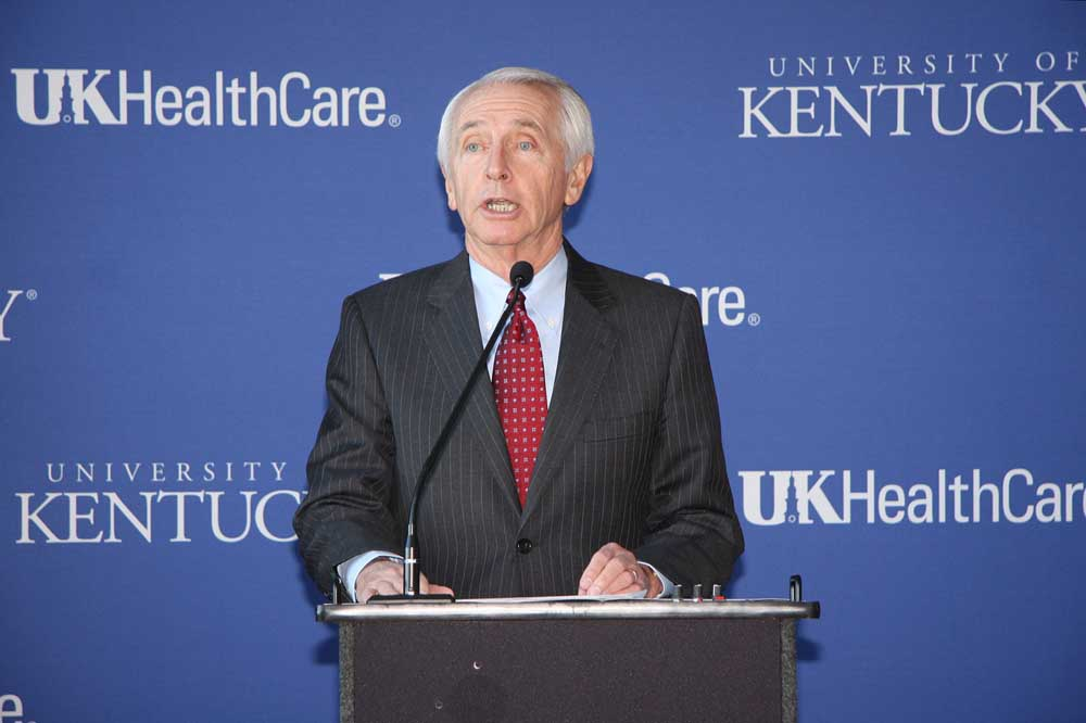 Gov. Steve Beshear announces Friday morning that UK HealthCare will manage the new Eastern State Hospital in Lexington.