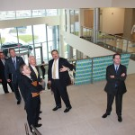 State and local official tour the new Tempur-Pedic headquarters at Coldstream Research Park in Lexington. At right is Mark Sarvary, CEO of Tempur-Pedic.