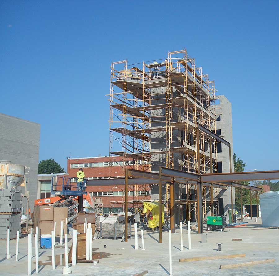 The University of Kentucky and developer EdR began construction last year on Central Hall I, the first dormitory to be built on campus since 2005. It is the first building in a multi-phase project to revitalize UK's on-campus housing. (Photo courtesy of UK Public Relations)