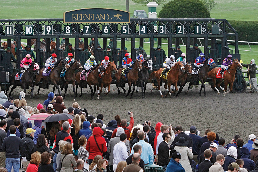 Photo from the 2011 Keeneland Spring Meet by John Snell. (Provided by and used with permission of Keeneland)