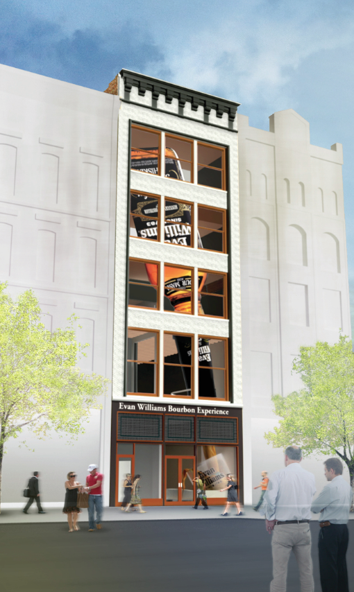 The Evan Williams Experience in Louisville is scheduled to open in September. Officials are expected to make a 'landmark announcement' today at the tourist attraction.