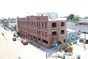 Former tobacco warehouses downtown were redeveloped into a business and research center in 2011. (Staff photo)