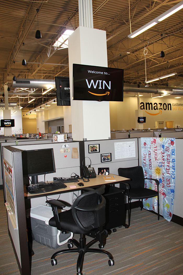 amazon opens customer service center in winchester with 550 employees. Black Bedroom Furniture Sets. Home Design Ideas