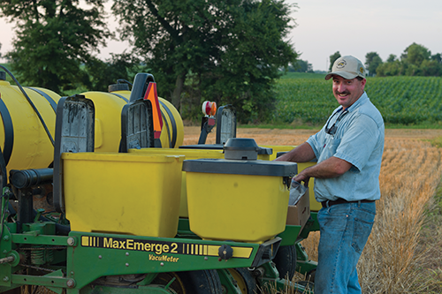 Kevin Trunnell has diversified his family's farming operation by building the successful Trunnell's Farm Market, but he still spends his summers in the field as the farm manager.