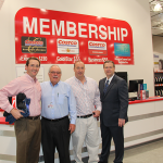 Stephen Gray, CEO of Gray Construction, attends the opening-day events at Costco, along with Costco co-founder and former CEO Jim Sinegal; Hamburg developer Pat Madden; and Bob Quick, executive director of Commerce Lexington.