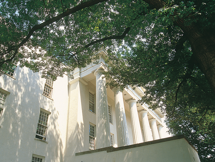 Endowment management must reflect the long-lived nature of postsecondary institutions such as Transylvania University, whose Old Morrison Building (above) is one of the oldest college buildings in the state. It was built in 1833.