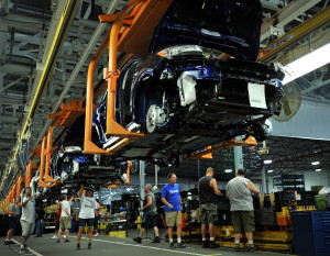 Workers at Ford''s Louisville Assembly Plant assemble the Escape. With more than 1.2 million vehicles produced in 2013, Kentucky ranks third overall in light vehicle production and first per capita.