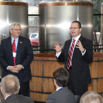 Lithuanian officials tour Kentucky distilleries as part of bourbon trade mission