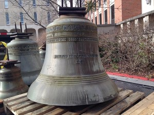 EKU's bells are transported for restoration.