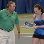 Kentucky Bank Pres Louis Prichard presents winner Madison Brengle