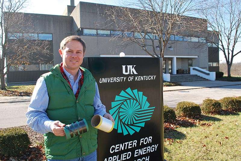 Matt Weisenberger is associate director of the University of Kentucky's Center for Advanced Energy Research located just north of Lexington across the street from the Kentucky Horse Park.