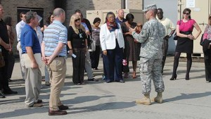 Regional employers hear firsthand from soldiers at Fort Knox. Where Opportunity Knox hosts quarterly tours at Fort Knox as part of their employer outreach, and more than 130 employers participate in the program currently.