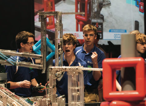 Louisville became home to the VEX Robotics World Championships in 2015 and attracted top teams from more than 1,000 local and regional VEX Robotics competitions. The 2016 championships are April 20-23 in Louisville.