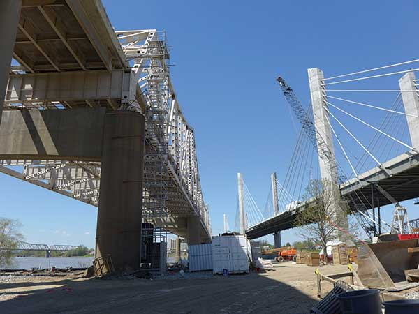 The Ohio River Bridges Project includes two new bridges and major improvements in Spaghetti Junction.