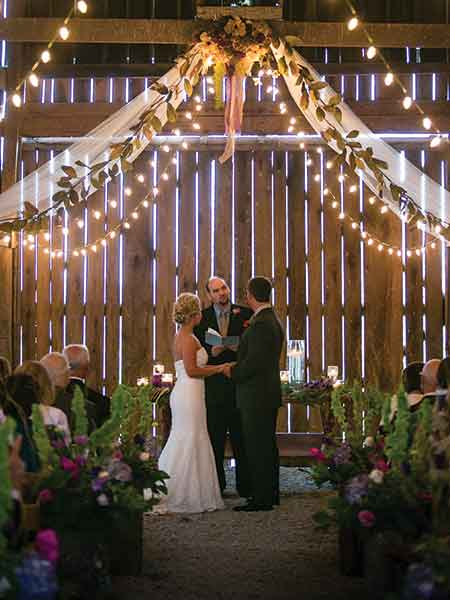 Nick and Brittney Adams held their October 2014 wedding at what is now a highly sought-after wedding venue for dozens of other couples. Warrenwood Manor is a historic house and barn in Danville.