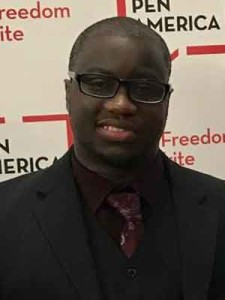 """Rion Amilcar Scott, author of """"Insurrections: Stories,"""" seen here at at the  PEN/America Literary Awards."""
