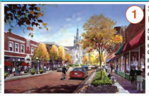 Artists' rendering of the streetscape enchancements for downtown Covington.