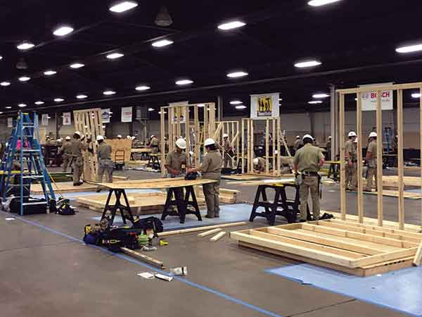 Students participated in a carpentry competition during the SkillsUSA National Leadership and Skills Conference in Louisville in June 2016.