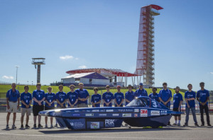 UK Solar Car Team at the Formula Sun Grand Prix in Austin, Texas.