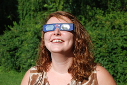 Use safety glasses during the solar eclipse.