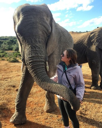 Samantha Casteel, a pre-veterinary medicine major at Murray State, spent the summer in South Africa working with and studying various animals.