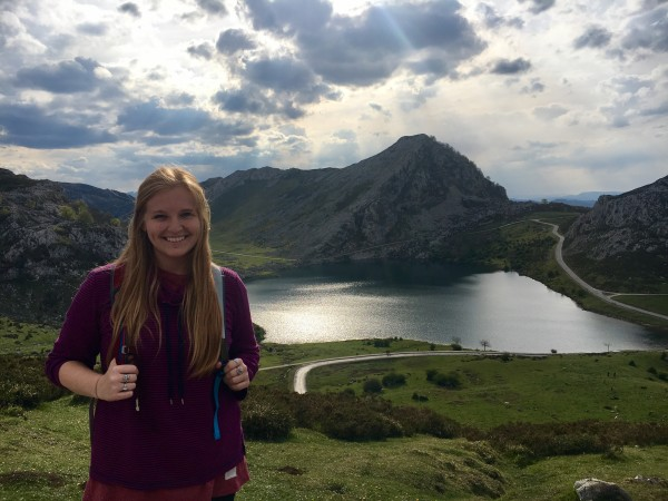 Jessica Williams in the countryside of Asturias, Spain. She spent a year teaching