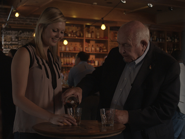 Master distiller Jimmy Russell, right, has been making bourbon for 60 years.