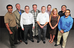 Members of the steering committee of the recently created Indo-Kentucky Chamber of Commerce are Raja Bhattacharya, from left, Richie Sanders, Steve Garrett, Fred Barkey, Nick Cooke, Rodney Rogers, Debbie McCarty, Ashwani Sarvaria and Vikram Patel.