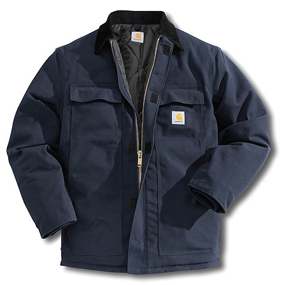 Carhartt's rugged apparel has become popular with workers both on and off the job.