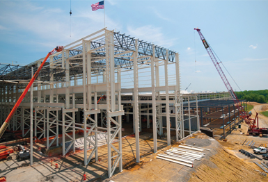 Gray Construction of Lexington is the design-build contractor for an 8560,000-s.f. Siemens plant in Winston-Salem, N.C., that will manufacture 280-ton gas turbines.