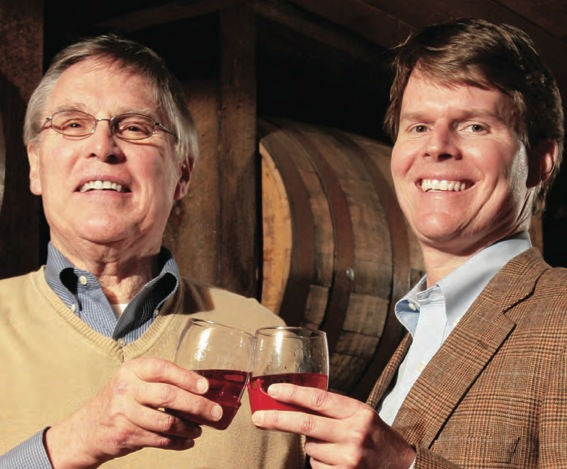 Bill Samuels Jr., left, and Rob Samuels, said today that Maker's Mark is rescinding its recent decision to reduce the bourbon's alcohol content.