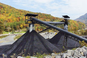 The coal mines of the James River Coal Company in Kentucky are shown here.