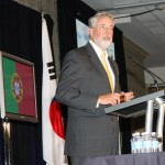 Robert Brown, chair of the World Trade Center Kentucky, speaks Monday at 2012 Kentucky World Trade Day. Brown is a partner with Bingham Greenebaum Doll LLP.