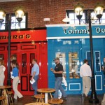 The visitors center at Lexington Brewing and Distilling Company looks like a Dublin streetscape, according to Dr. Pearse Lyons, president of Alltech. The pub fronts, shown above, are named for family members, he said.