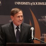 Gen. David Petraeus, director of the Central Intelligence Agency, speaks Monday at the McConnell Center at the University of Louisville.