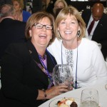 The wives of Lynn Imaging's J.L. Lynn and Mike Carter celebrate the company's award at the Commerce Lexington 2012 Salute to Small Business.
