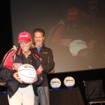 UK Coach John Calipari signed a baskebtall for a Toyota employee and University of Louisville fan.